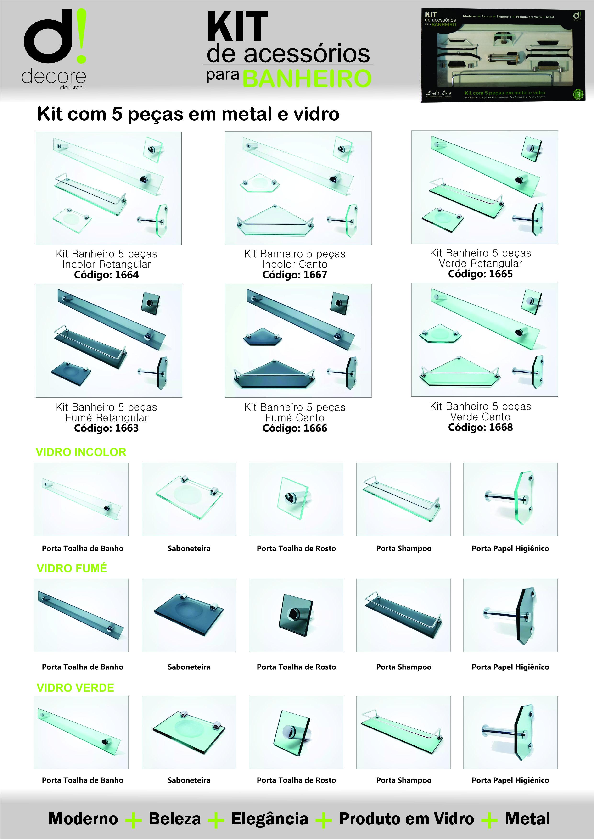 Panfleto Decore kit banheiro
